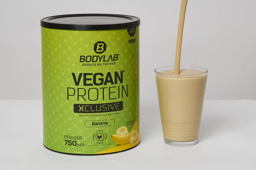 bodylab vegan protein shake banana testbericht