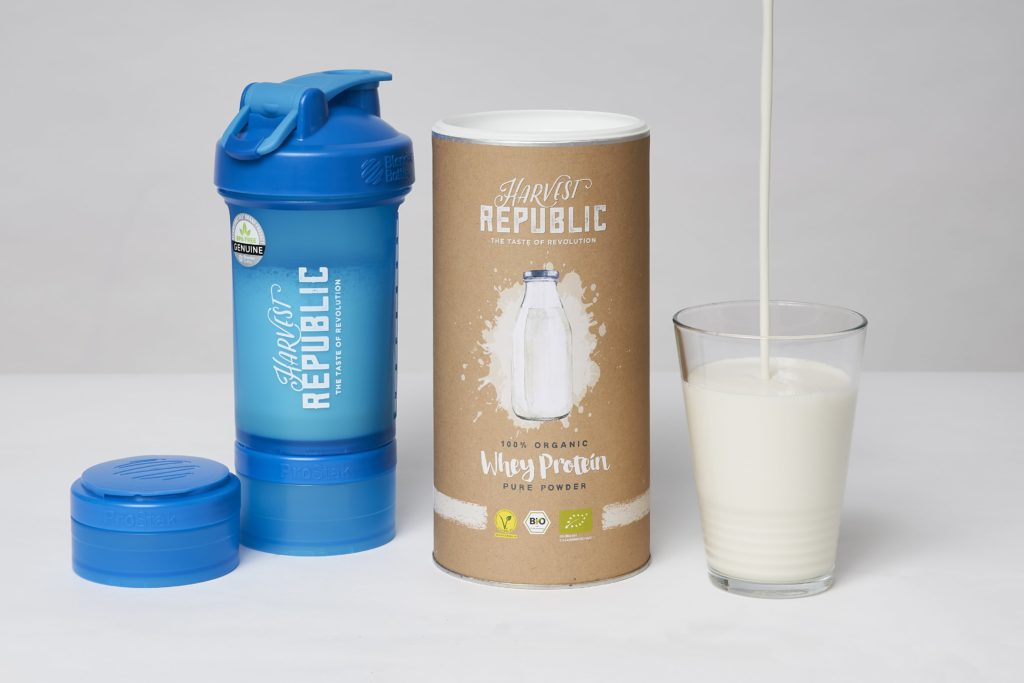 harvest republic whey protein shaker