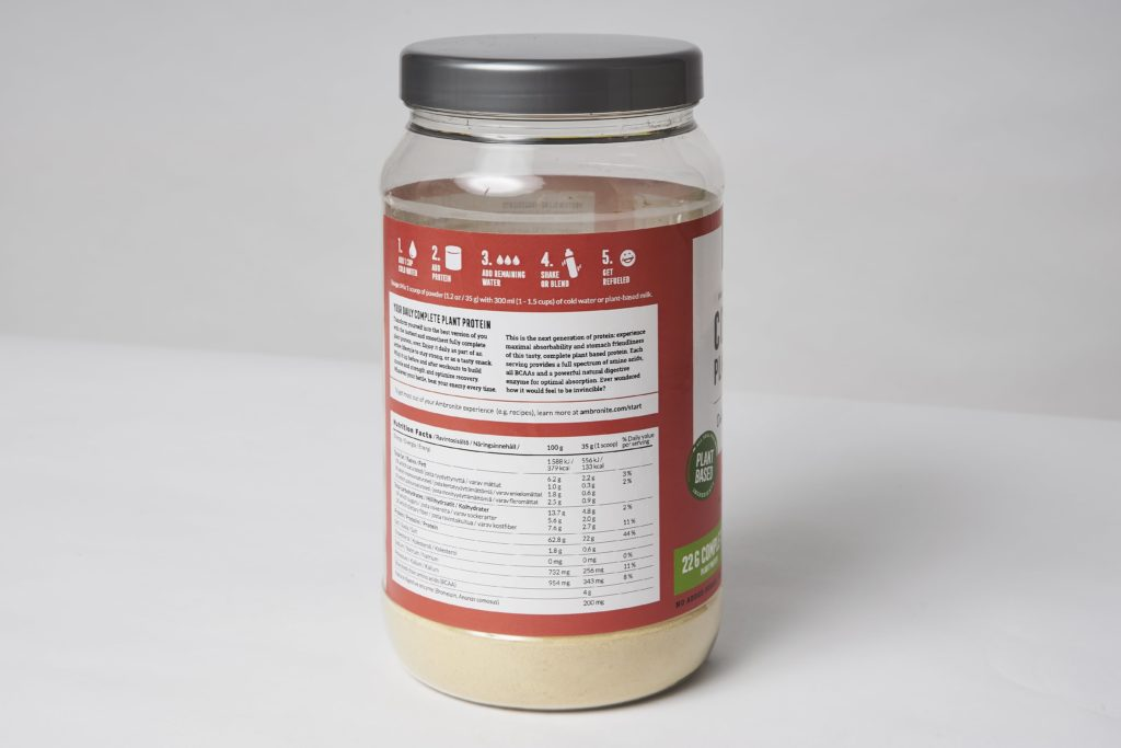ambronite complete plant protein inhaltsstoffe