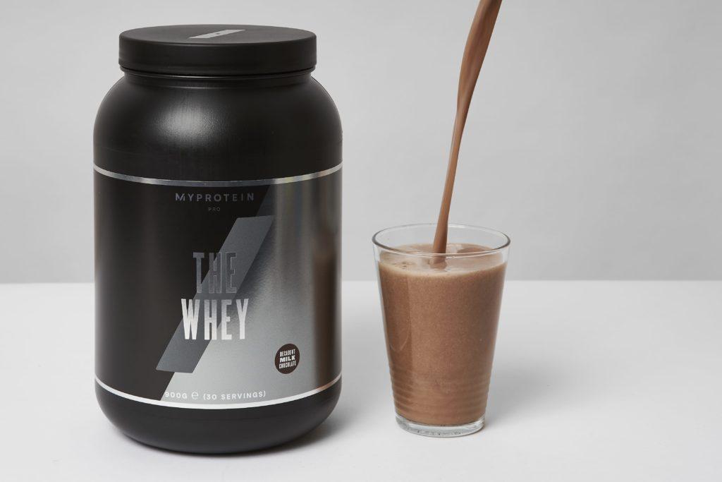 myprotein whey protein shake geschmack