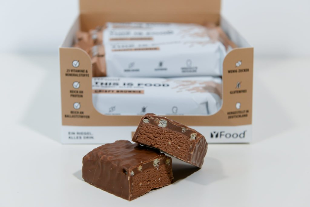 yfood riegel crispy brownie test